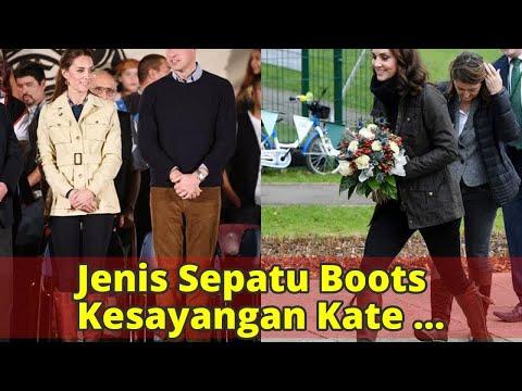 Jenis Sepatu Boots Kesayangan Kate Middleton