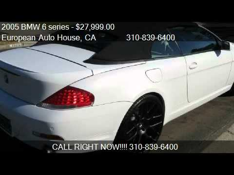 BMW Series Ci Convertible For Sale In Los Angele YouTube - 2004 bmw 645ci convertible for sale