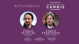 Acto de campaña en Zamora: Garantiza el cambio.