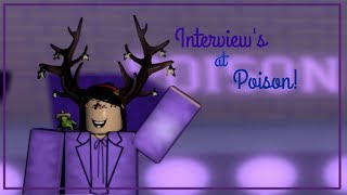 Roblox- Interviewing at Poison!!