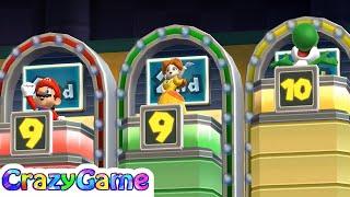 Mario Party 9 Step It Up - Luigi v Mario v Daisy v Yoshi   CRAZYGAMINGHUB