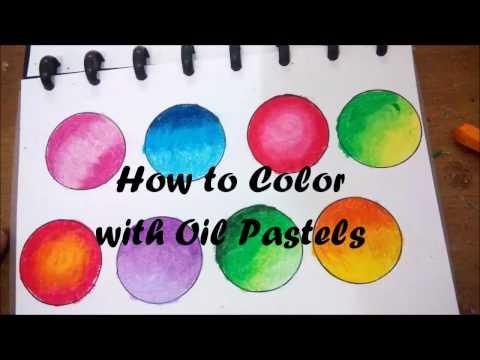 Tutorial Dasar Mewarnai Gradasi dengan Crayon - #Basic How to Blend Oil Pastels -