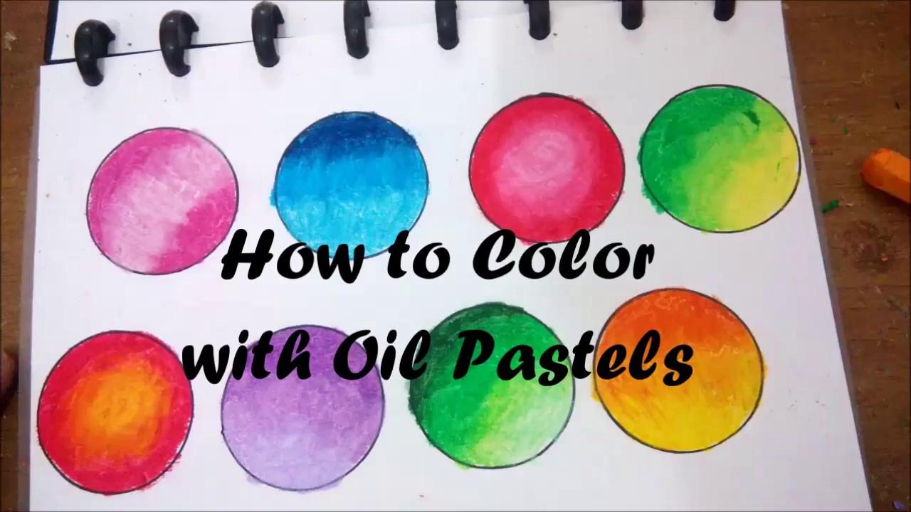 Tutorial Dasar Mewarnai Gradasi dengan Crayon Basic How to Blend Oil Pastels