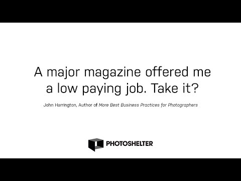 Should You Take that Lower-Paying Job for 'Photo Credits' from a Big Publication?