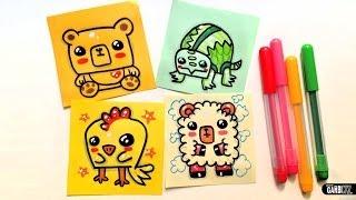 animals easy draw turtle drawings bear garbi kw sheep chicken dibujos drawin guardado desde
