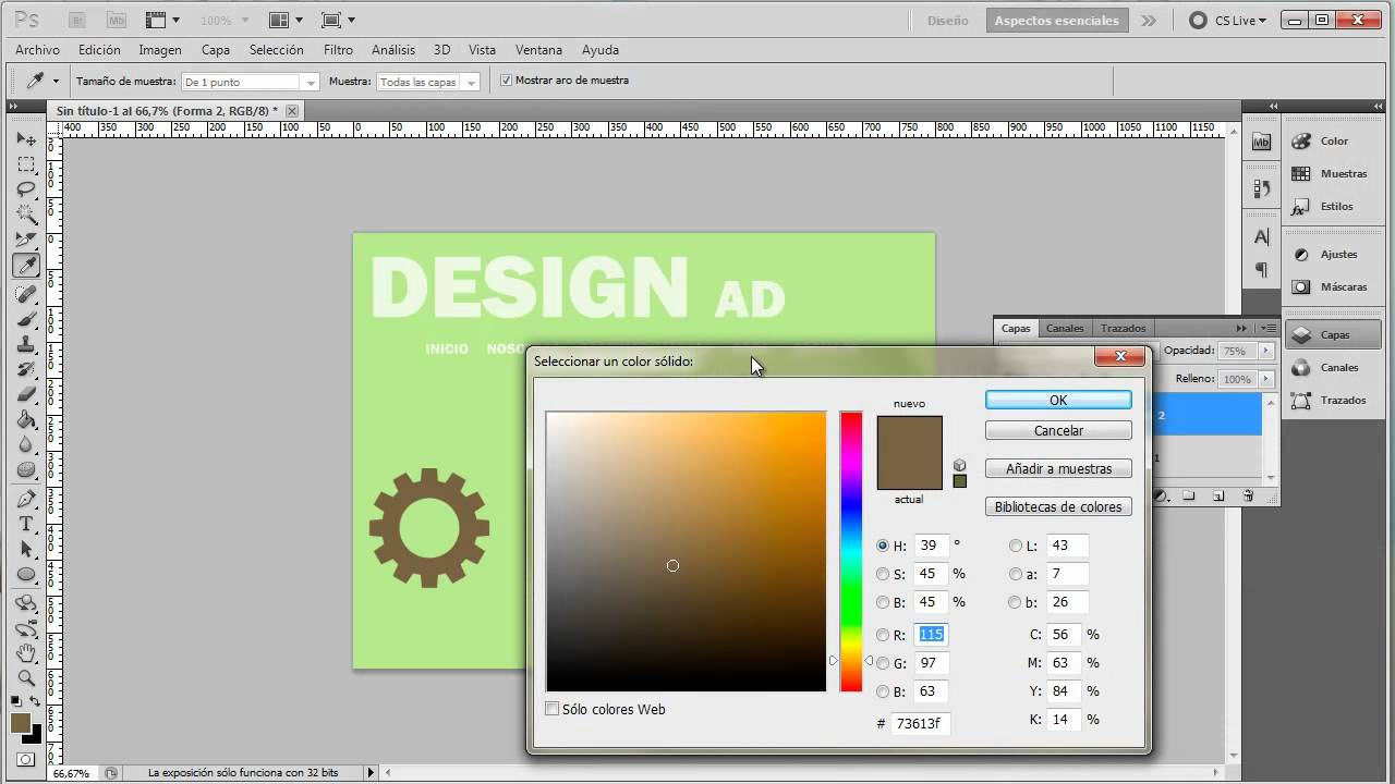 Photoshop 047 Diseño Web Esquemas de color con diferencia - YouTube