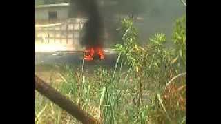 Accidente automovilístico de Alvaro Misael Alfaro y Irza santos en la carretera de Oro 30/04/12