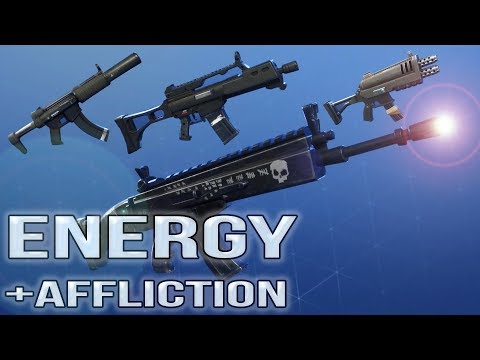 My Best Energy Affliction Weapons in Fortnite  Nocturno   Ranger   Silenced Specter   Razorblade