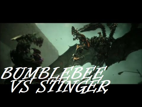Bumblebee vs Stinger: Transformers Age Of Extinction - YouTube Transformers 4 Bumblebee Vs Stinger