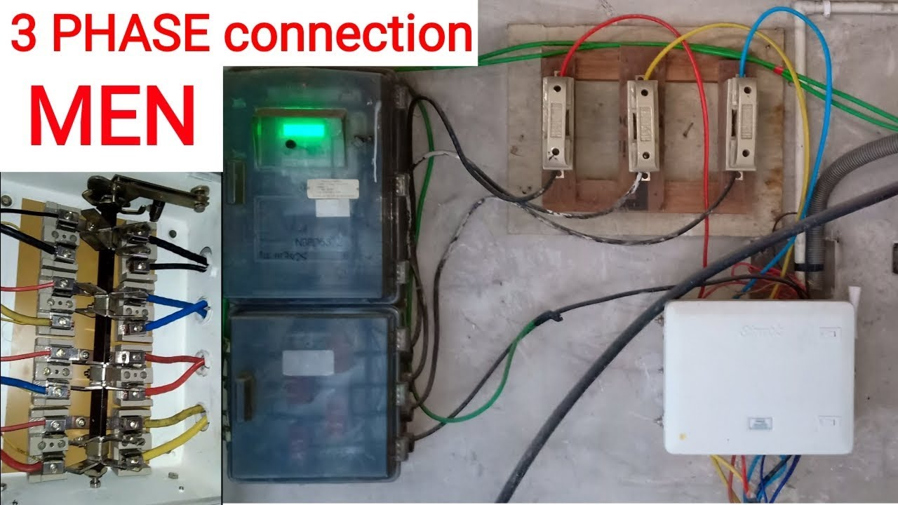 3 Phase Men Wiring Connection Three Phase Connection Electrical Three Phase Youtube