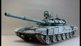 Модель танка Т-72БА. Набір фірми Trumpeter № 05564 Russian T-72B Mod.1990 Cast Turret