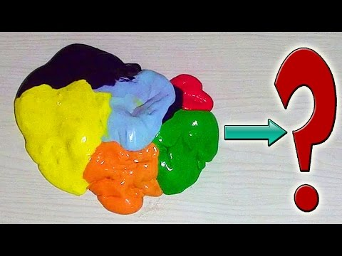 Что будет, если смешать СЕМЬ Разноцветных ЛИЗУНОВ