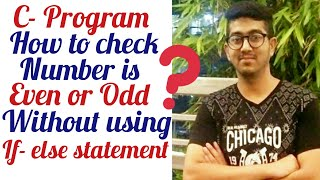 Program to check number is even or odd without using if- else statement