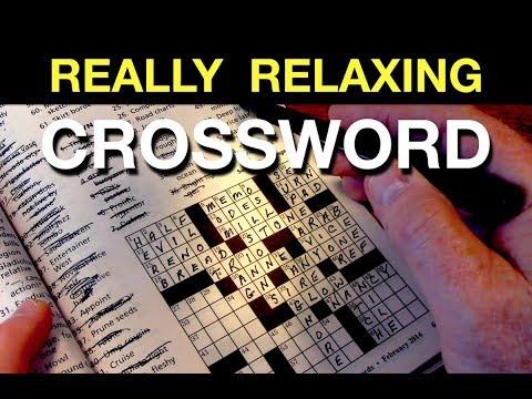 Rainy Night Crossword Puzzle - ASMR Sleep Aid