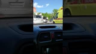 Очередная авария на проспекте Красоты во Владивостоке