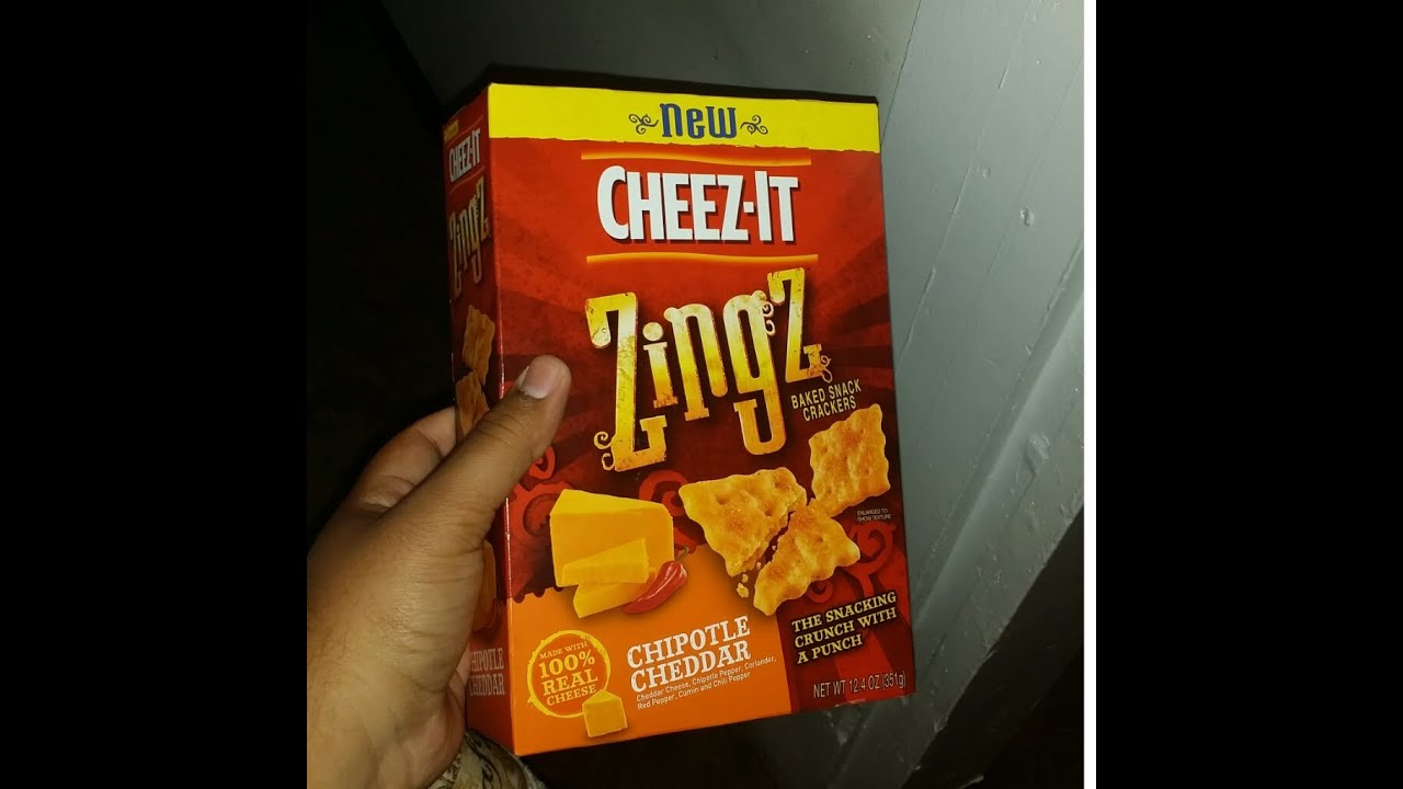 cheez it zingz chipotle cheddar review youtube