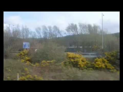 London Euston to Bangor North Wales by train with guided annotations