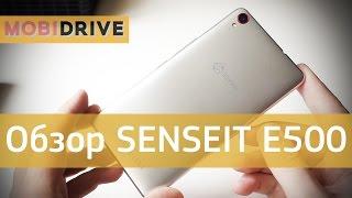 обзор SENSEIT E500: стильный и недорогой смартфон