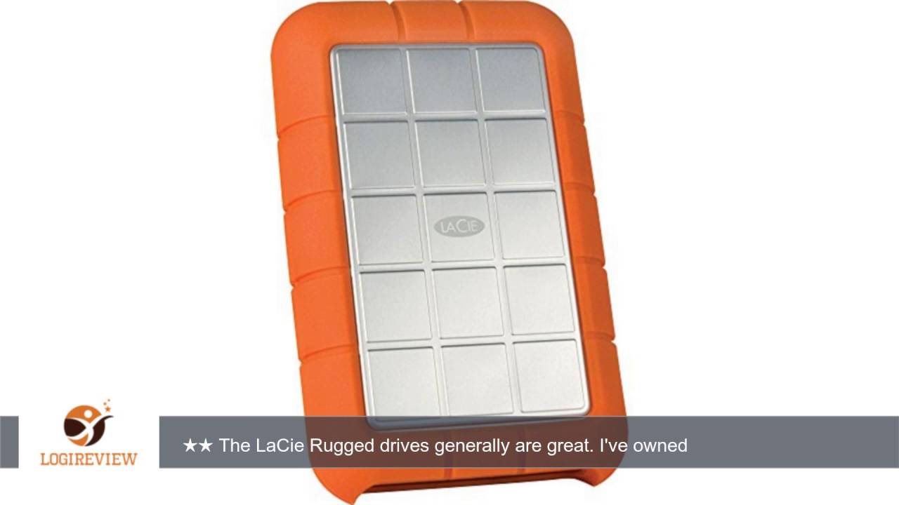 LaCie 1TB Rugged Triple Interface USB 3.0 Portable Hard Drive With Case  Logic Portable Hard Drive