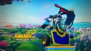 Messing around in Fortnite and doing some glitches!!!