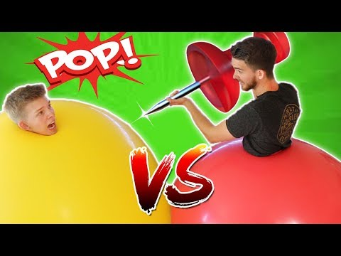 Download Youtube: GIANT Climb-Inside Balloon POP Challenge