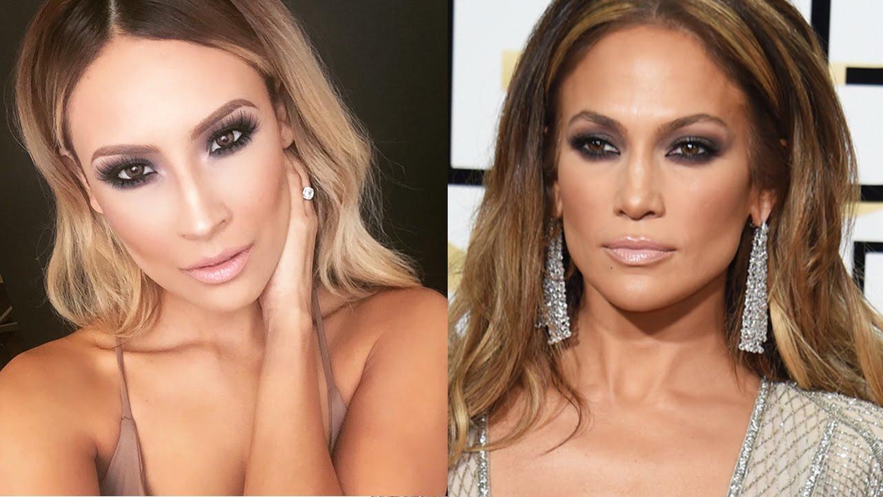 Jlo Golden Globes Makeup Tutorial Desi Perkins Youtube