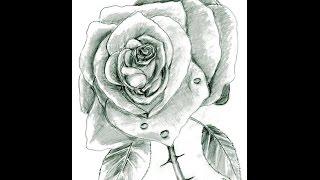 Рисуем розу простым карандашом поэтапно(Здравствуйте! В этом видео я покажу как нарисовать прекрасную пышную розу простым карандашом. Роза - это..., 2015-01-13T16:00:21.000Z)