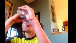 Drinking A Bottle Of Water 16 Ounces In Seconds!