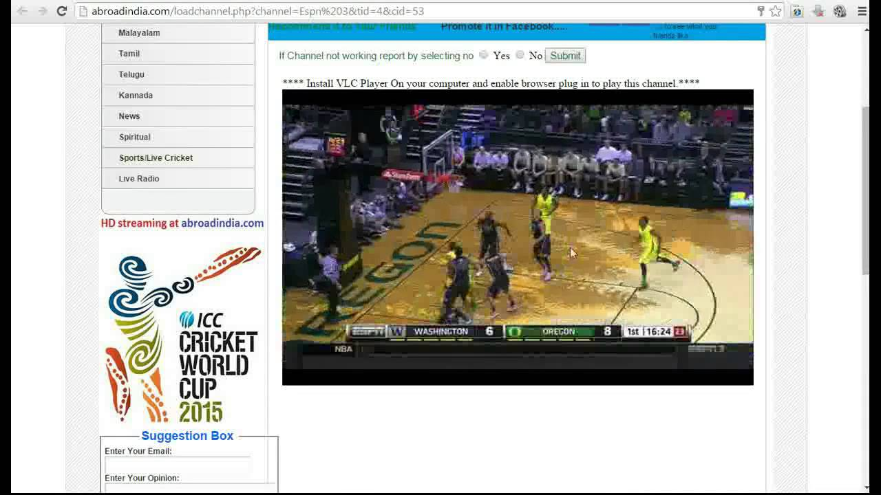how to watch espn live for free