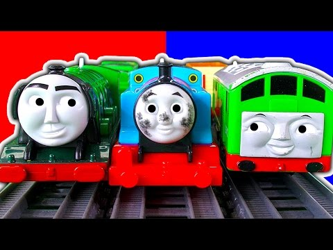 Dirty Thomas The Tank Trackmaster 2In1 Destination Set BoCo Cicada Train & Crashes