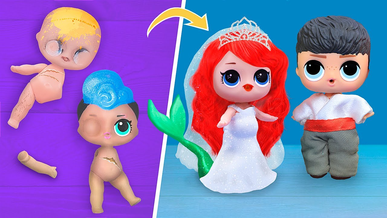 ไม่แก่ไปสำหรับตุ๊กตาหรอก! 10 เซอร์ไพรส์ DIY ของเมอร์เมด LOL
