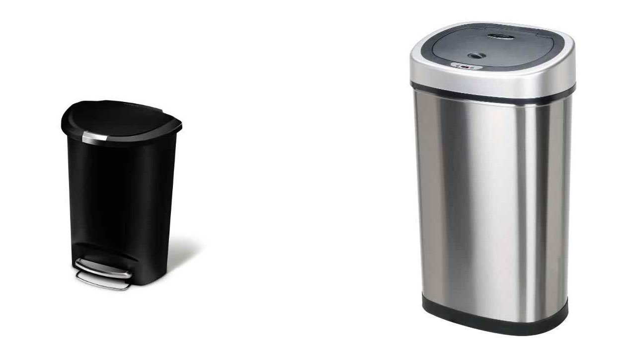 Top 5 Best Office Trash Cans Reviews 2016   Best Stainless Steel Trash Can