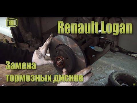 Renault Logan - замена тормозных дисков / TRIALLI