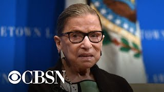 Justice Ginsburg hospitalized after falling in her office