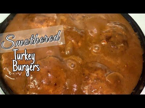 Smothered Turkey Burgers w Homemade Onion Gravy | Hamburger Steaks | Salisbury Steak