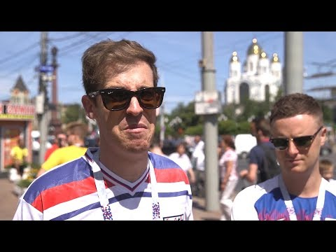 England & Belgium Fans Arrive In Kaliningrad For World Cup Game - Russia 2018 World Cup