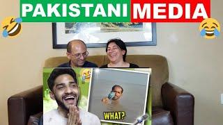 PAKISTANI MEDIA IS HILARIOUS!! 🤣 | THUGESH | REACTION 😂😂😂!!