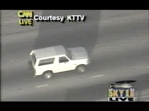 OJ Simpson on the run in 1994 (Recorded LIVE) Full version