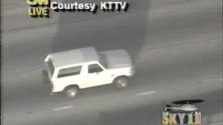 OJ Simpson on the run in 1994 (Recorded LIVE) Full version