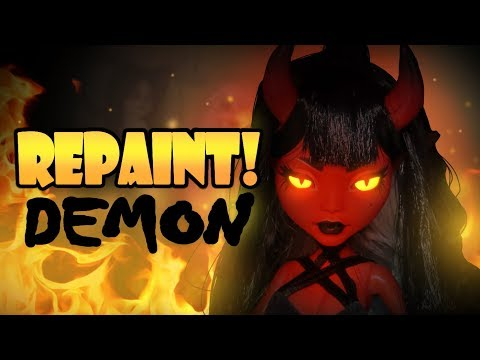 Repaint! Halloween Special Demon Girl OOAK Doll