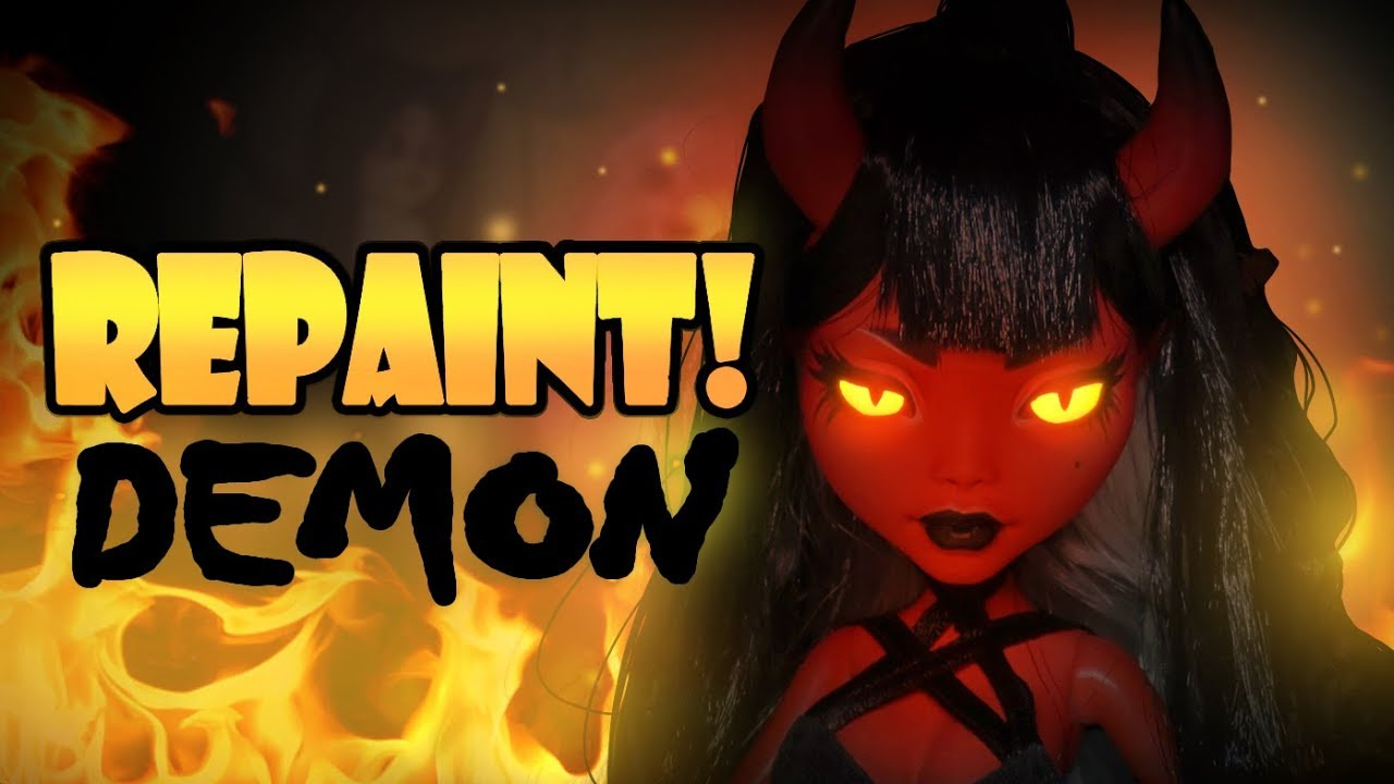 Demon Girl Wallpaper Repaint Halloween Special Demon Girl Ooak Doll Youtube