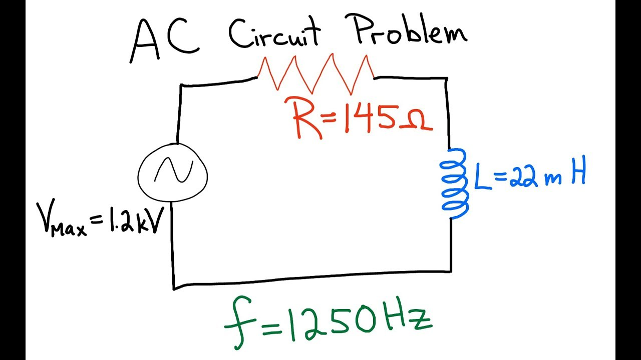 Ac Circuit Inductor And Resistor In Series Youtube Voltage Divider