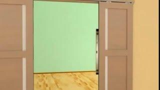 Установка межкомнатных дверей Волховец(Видеоурок по установке двухстворчатой раздвижной системы. Купить межкомнатные двери Волховец от официаль..., 2013-06-16T10:52:22.000Z)