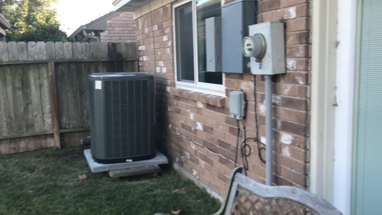 New Trane Xr17 And Xv80 Hvac System Youtube