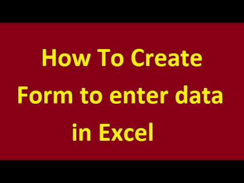 create data entry form excel 2013 use excel data forms