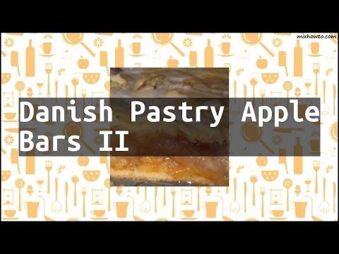 Recipe Danish Pastry Apple Bars II