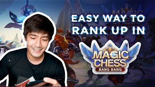 EASY WAY TO RANK UP IN MOBILE LEGENDS CHESS! | Robi Domingo