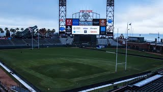 Incredible time lapse of AT + T Park from baseball to rugby