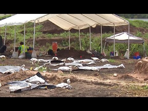 Bodies exhumed from unmarked cemetery in Texas