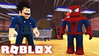 FACTORY OF HEROES in ROBLOX!! -I TURNED SPIDER-MAN!!